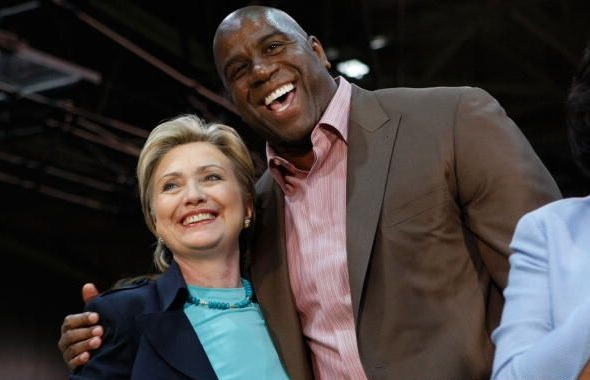 clinton magic johnson